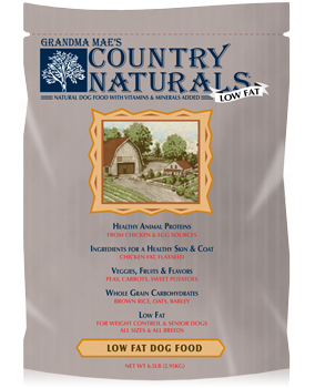 Grandma Mae's Senior-Low Fat Dog Food - Natural dog food with vitamins and minerals.